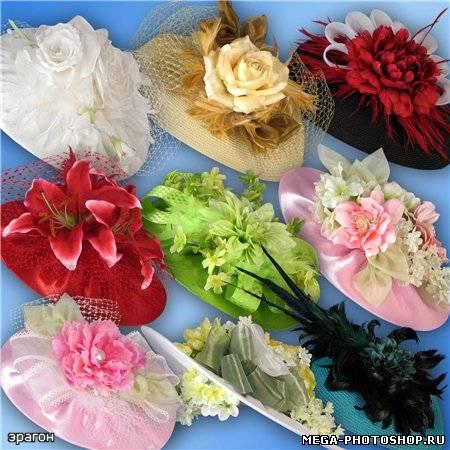 Шляпка с цветами своими руками