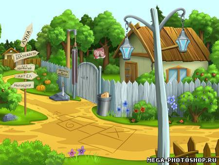 Фоны для фотошопа сказочные домики
